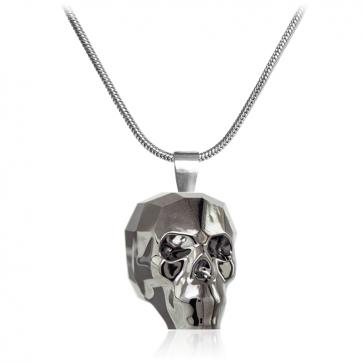 """Дамско колие """"Skull""""  с черен кристал Сваровски"""