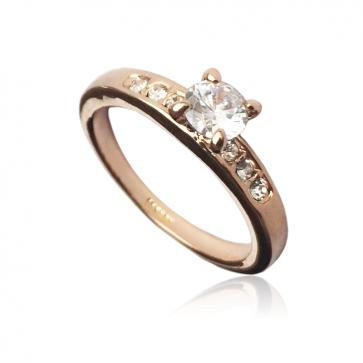 Дамски пръстен с кристал циркон и австрийски кристали