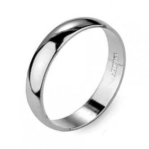 """Дамски пръстен тип """"халка"""" с бяло златно покритие"""