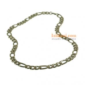 Елегантен мъжки ланец с цвят сребро от медицинска стомана клас 316L