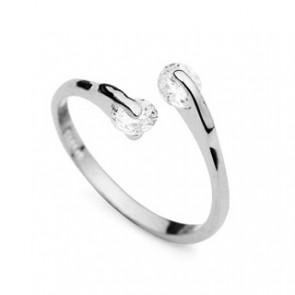 """Стилен дамски пръстен """"Божествена жена Silver"""" с бели камъни CZ Циркон"""