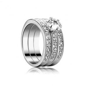 Дамски пръстен от три части със златно покритие