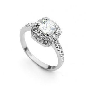 """Луксозен  дамски пръстен """"Камъкът на Щастието"""" с австрийски кристал и CZ Циркон"""