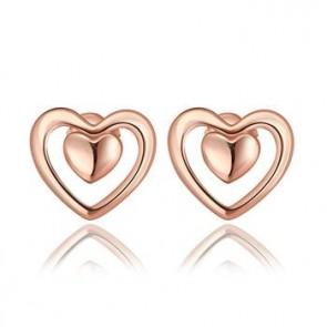 """Дамски обеци """"Вечна любов"""" Голд с 18 каратово розово златно покритие"""