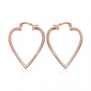 """Дамски обеци """"Романтично Сърце"""" с  розово златно покритие"""