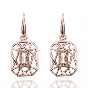 Дамски обеци с австрийски кристали и златно покритие