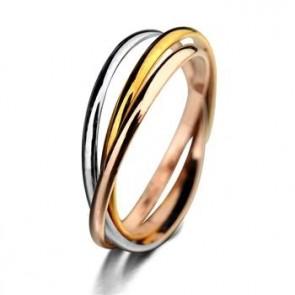 "Дамски цветен пръстен ""Вплетени Халки"""