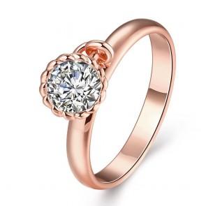 """Дамски пръстен """"Бианка"""" с австрийски кристали циркон и розово златно покритие"""