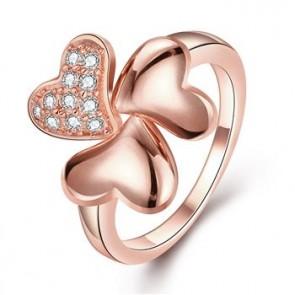 """Дамски пръстен """"Леда"""" Голд с кристали CZ Циркон и 18К златно покритие. Код: PS134"""