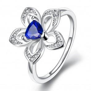 Дамски пръстен с кристали CZ циркон и платинено покритие