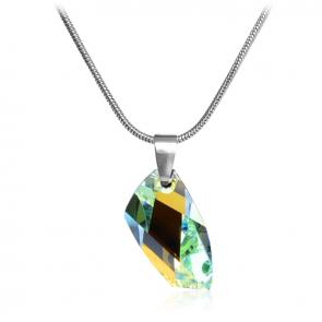 Дамско колие  с многоцветен кристал Сваровски