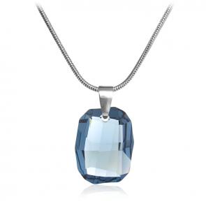 "Дамско колие ""Denim Blue"" със син кристал Сваровски"