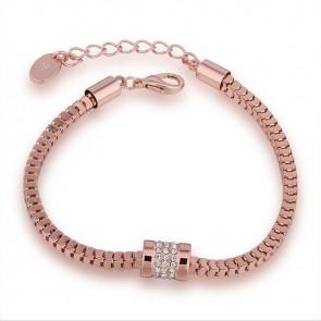 "Дамска гривна ""Ирида"" с австрийски кристали и розово златно покритие"