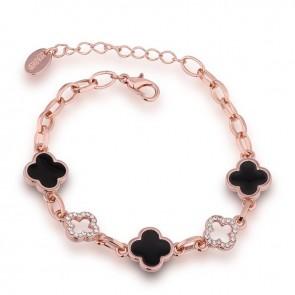 "Дамска гривна ""Деметра"" с австрийски кристали и розово златно покритие"