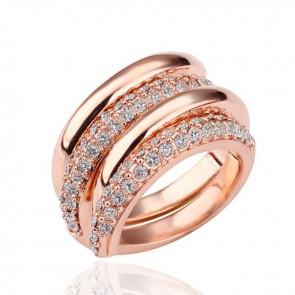 """Дамски пръстен """"Прекрасна лейди"""" с 18К златно покритие"""