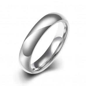 """Стилен пръстен """"Бяла Халка"""" от неръждаема титаниева стомана"""