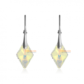 """Дамски обеци """"Rhombus"""" с многоцветен кристал Сваровски"""
