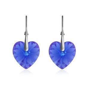 """Дамски обеци """"Сапфирено Сърце"""" със сини кристали Сваровски"""