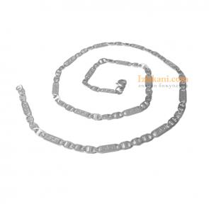 Мъжки ланец от медицинска стомана с гръцка шарка