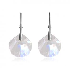 Висящи дамски обеци миди с прозрачни кристали Сваровски