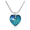 """Дамско колие """"Bermuda Blue Heart"""" със син кристал Сваровски. Код: SE33."""