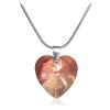 """Дамско колие """"Романтично сърце"""" с червен кристал от Swarovski Elements. Код: SE25."""