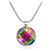 "Дамско колие ""Twist Vitral Medium"" с многоцветен кристал Сваровски. Код: SE11."