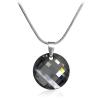 "Дамско колие ""Silver Night"" с черен кристал Сваровски. Код: SE12."