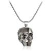 "Дамско колие ""Skull"" Silver Night с черен кристал Сваровски. Код: SE55."