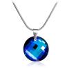 "Дамско колие ""Twist Bermuda Blue"" със син кристал Сваровски. Код: SE10."
