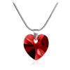 """Дамско колие """"Влюбено сърце"""" с червен кристал от Swarovski Elements. Код: SE4."""